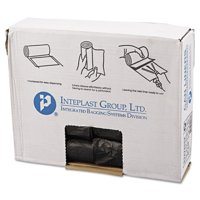 Inteplast Group High-Density Can Liners, 10 Gallon, Black, 50 count, (Pack of 20)