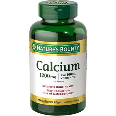 Nature's Bounty Calcium Plus Vitamin D Softgels, 1200 mg, 120 Ct - Natures Plus Shot