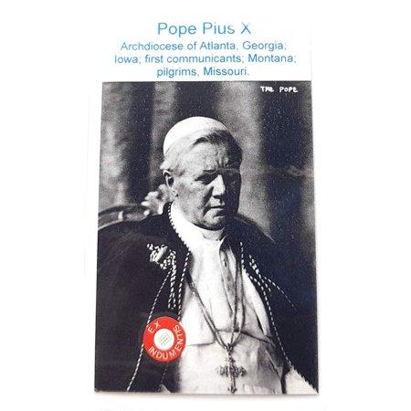 relic card 3rd Class of Pope Saint Pius X Giuseppe Melchiorre Sarto Patron of First communicants First Communion; San Pío X patrono de la Primera comunión comulgantes