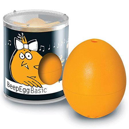 Brainstream BeepEgg Egg Timer, Basic, Cook Perfect Soft, Medium or Hard Boiled Eggs To Your Favorite Tunes Singing and Floating Egg Timer (Orange)