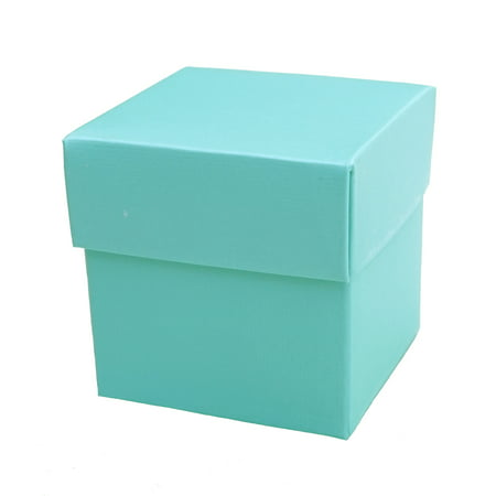 Mini Square 2x2x2 Favor Gift Box with Lid (10 Count) - Robin Egg - Large Gift Boxes With Lids