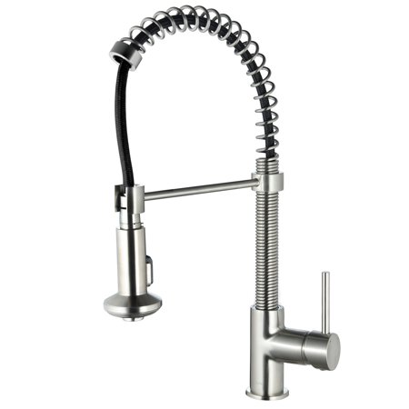 Kitchen Faucet With Pull Out Spray Spring Single Handle Pull Down