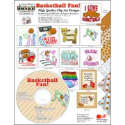 ScrapSMART Basketball Fan Clip-Art CD-ROM, Colorful Illustrations for Scrapbook, Craft, Sewing