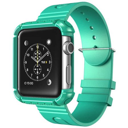 Apple Watch Rugged Case for Apple Watch (42mm) i-Blason Apple Watch Rugged Case for Apple Watch (42mm) safeguards your Apple Watch during use. The matching wristband complements the case and allows full access to Apple Watch features.