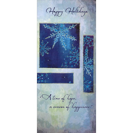 Designer Greetings Snowflakes on Blue and Gray Christmas Money & Gift Card (Best Designer Card Holder)