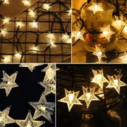 HOTBEST 30/60 LED Star Fairy String Lights Garden Outdoor Solar Powered Xmas Party Lamps