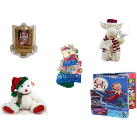 Christmas Fun Gift Bundle [5 Piece] - Hallmark Football Photo Frame Ornament QXG4765 - Woodniks