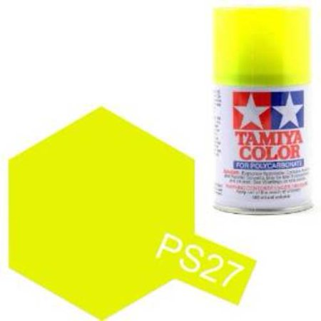 Tamiya Polycarbonate Colour Spray PS27 Fluorescent Yellow