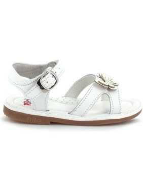 9be9f751767c Product Image Rilo Girls White Butterfly Accent Buckled Strap Leather  Sandals
