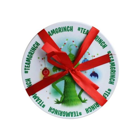 Kole Imports GB175-48 Grinch Melamine Plate - Set of 2 - Case of 48 - image 1 of 1