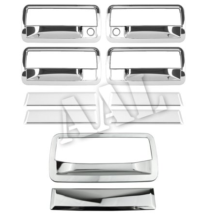 Blower Door (AAL Premium Chrome Cover Combo For CHEVY 1998 1999 2000 2001 2002 2003 2004 2005 2006 S10 BLAZER 4 Doors HANDLE With Passenger Side Keyhole+Tailgate Without UT)