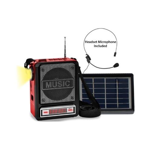 TECHNICAL PRO Solar Rechargeable Bluetooth Speaker with W...