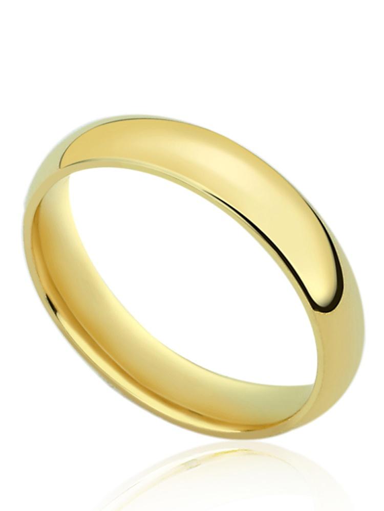 Jewel Tie 14k Yellow Gold 4mm Comfort Fit Wedding Band