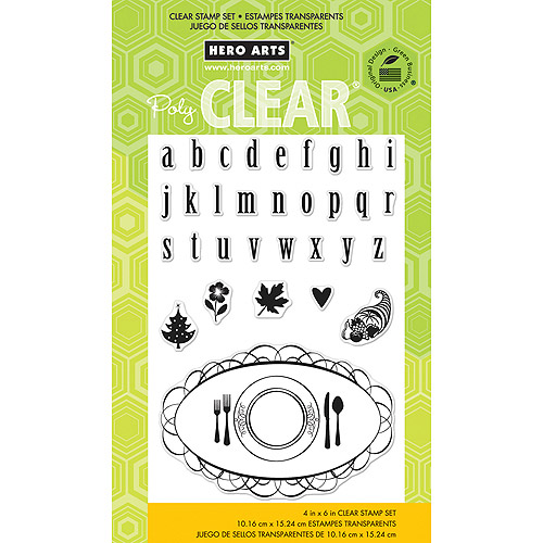 Hero Arts Clear Stamps 4 Inch X 6 Inch Sheet-Placecard & Alphabet