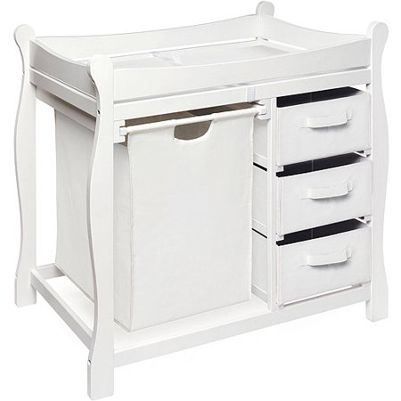 Badger Basket - Changing Table with Hamper and Baskets, - Angel Line Changing Table