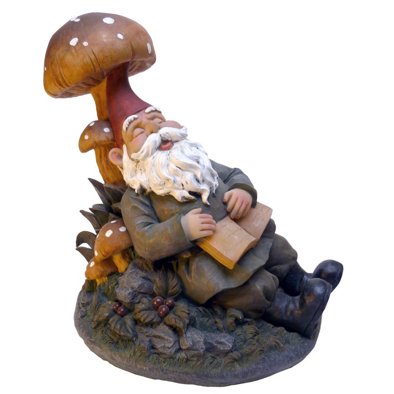 Design Toscano Snoozing Booker the Garden Gnome Statue by Design Toscano