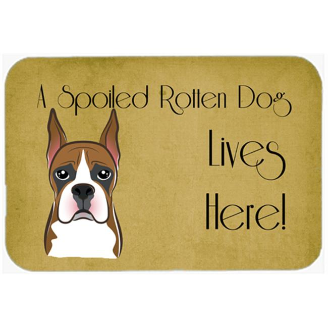 Carolines Treasures BB1471JCMT Boxer Spoiled Dog Lives Here Kitchen & Bath Mat, 24 x 36 in. - image 1 of 1
