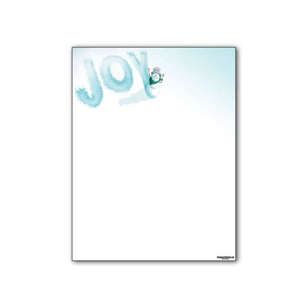 - Holiday Letterhead Paper - Snowman Joy Holiday Stationery - 80 Paper Sheets Per Pack