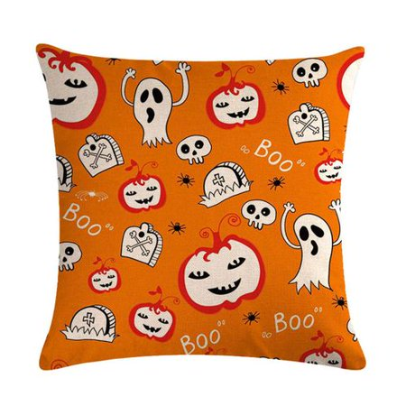 KABOER 2 PCS 2019 New Halloween Pumpkin Bat Ghost Linen Pillow