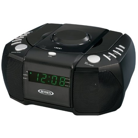 Jensen JCR310 Top Loading AM/FM PLL Stereo CD Dual Alarm Clock Radio with 0.6-Inch Green LED Display and Aux Line-In - image 1 of 1