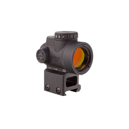 Trijicon 1x25mm MRO 2.0 MOA Red Dot Sight w/ High Mount, Black -