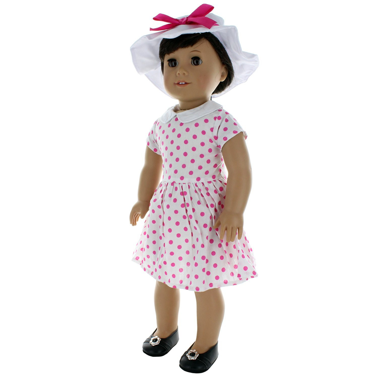 60's Style Dress Outfit Doll Clothes Accessories Fits American Girl My Generation & Other... by