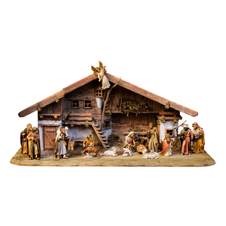 Father Christmas Wall - Framed Art for Your Wall Nativity Scene Christmas Png Crib Father Christmas 10x13 Frame