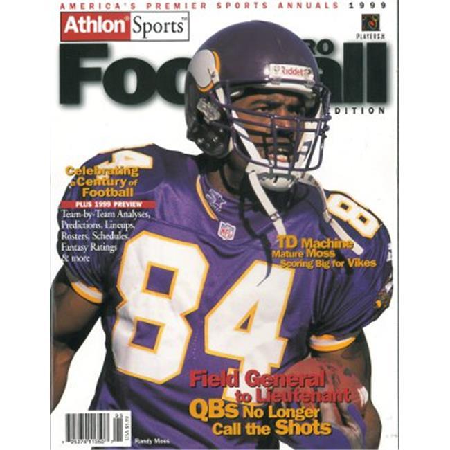 Athlon CTBL-012492 Randy Moss Unsigned Minnesota Vikings Sports 1999 NFL Pro Football Preview Magazine