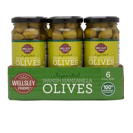 Product of Wellsley Farms Spanish Stuffed Manzanilla Olives, 8.3 oz. [Biz