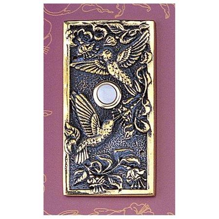 Hummingbird Decorative Doorbell w Brass - Decorative Doorbells
