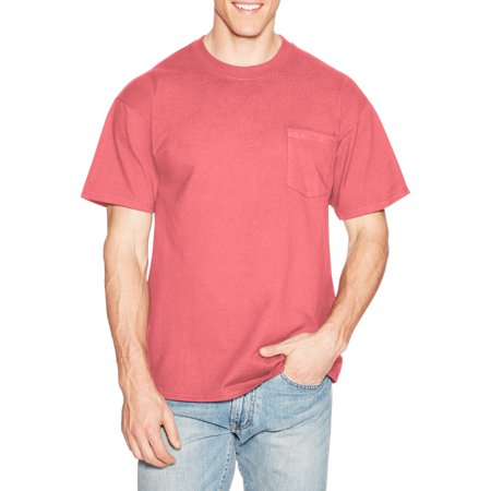 Hanes Mens Premium Beefy T Cotton Short Sleeve T Shirt With Pocket