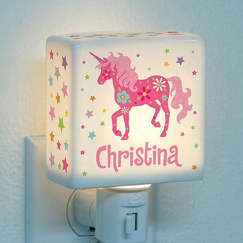 Personalized Night Light - Pretty Unicorn