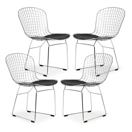 Poly and Bark Morph Side Chair in Black (Set of 4) (Kids Black Morph Suit)