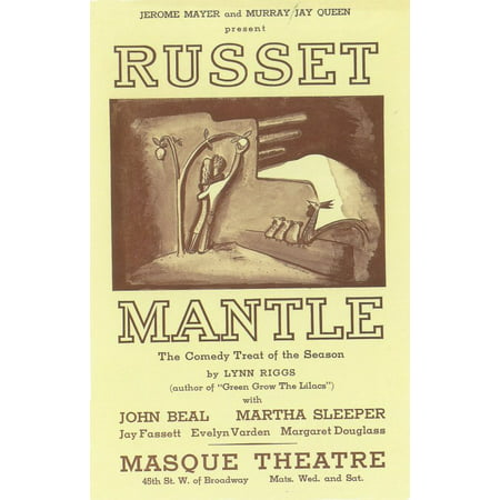 Russet Mantle (Broadway) (1936) Laminated Movie Poster Print 24 x 36
