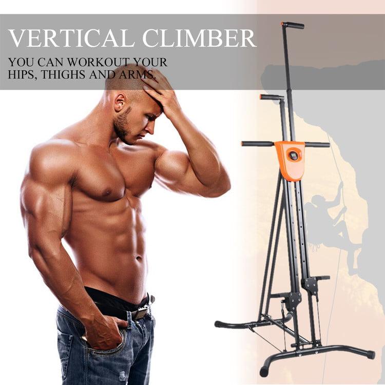 Vertical Climber Cardio Exercise, Total Body Workout Climber Machine, Folding Climbing Machine for Home Gym Step Climber