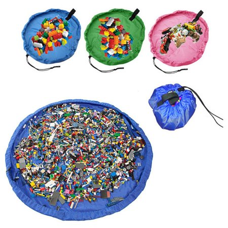 Children play game mats large toy storage bag baby crawling carpet picnic cushions kids play toys collection bag