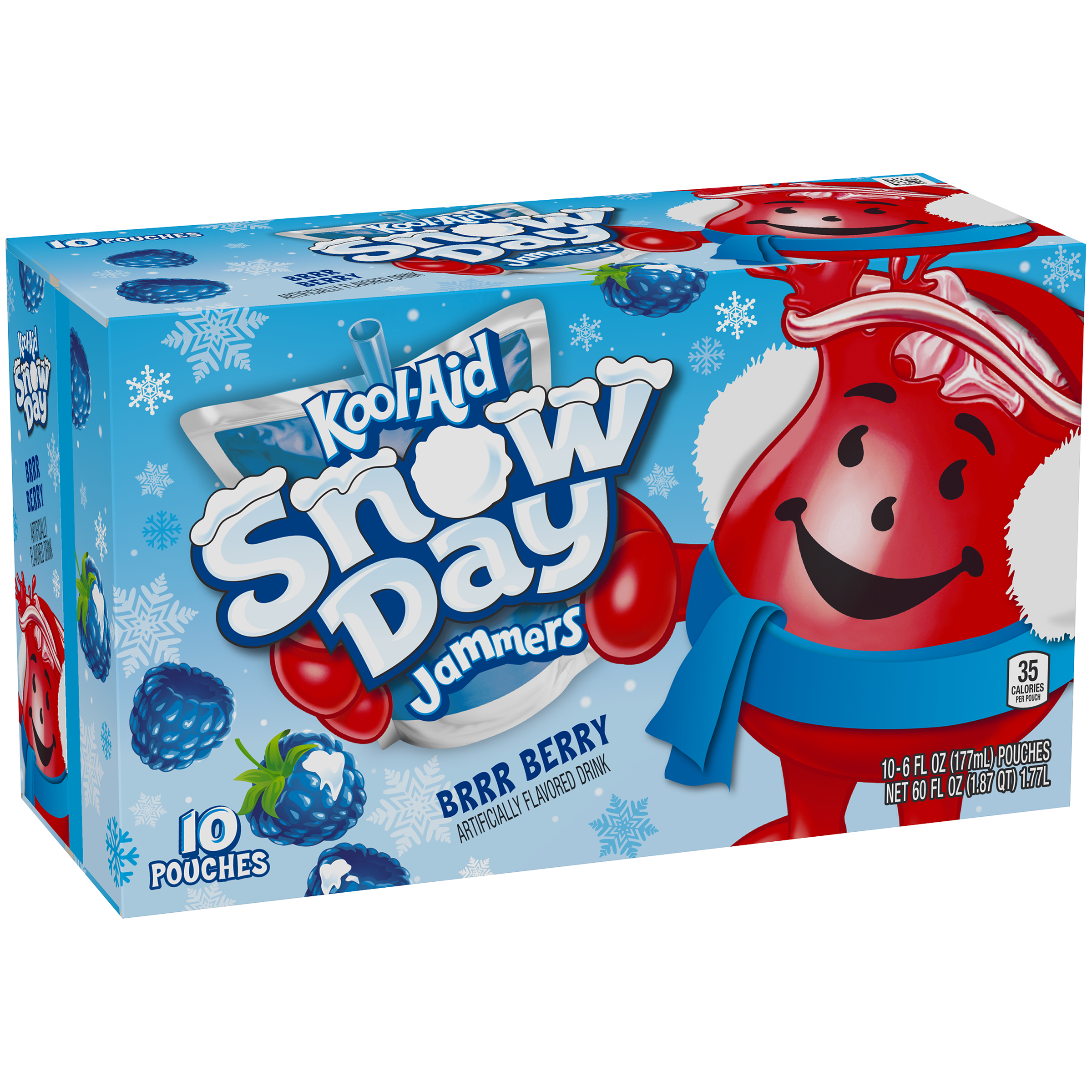 Kool-Aid Jammers Boomin' Berry Ready-to-Drink Soft Drink 10-6 fl oz Pouches