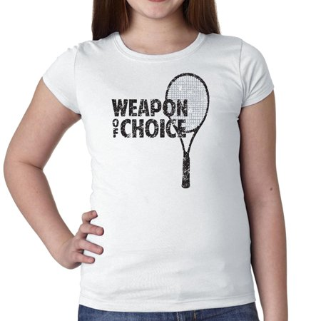 Weapon of Choice Tennis Racket Icon Player Support Girl's Cotton Youth
