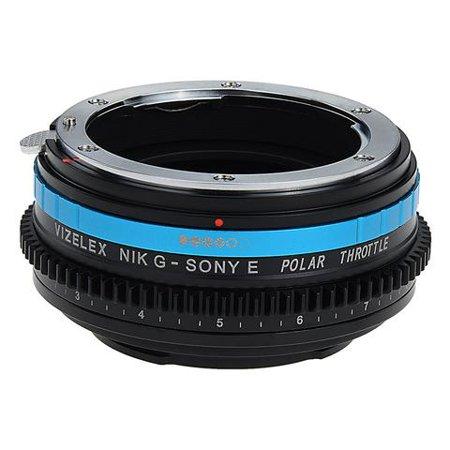 Vizelex Polar Throttle Lens Mount Adapter - Nikon Nikkor F Mount G-Type D/SLR Lens to Sony Alpha E-Mount Mirrorless Camera Body with Built-In Circular Polarizing (Polar Lens)