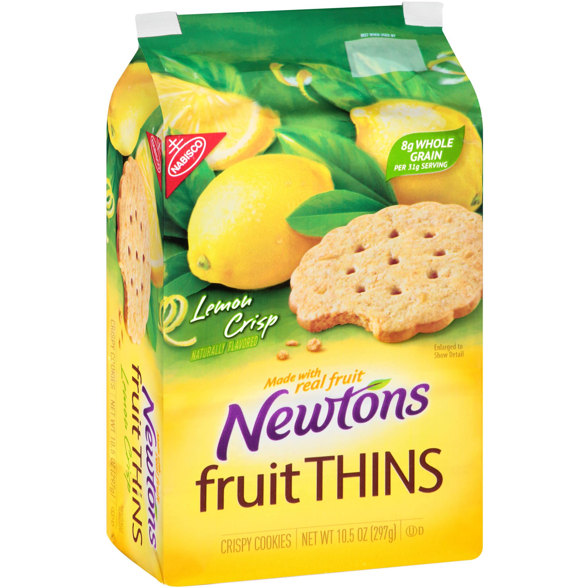 Nabisco Newtons Fruit Thins Lemon Crisp Crispy Cookies, 10.5 oz