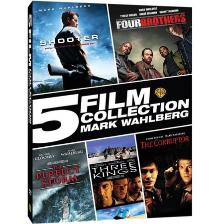 5 Film Collection  Mark Wahlberg   Shooter   Four Brothers   The Perfect Storm   Three Kings   The Corruptor