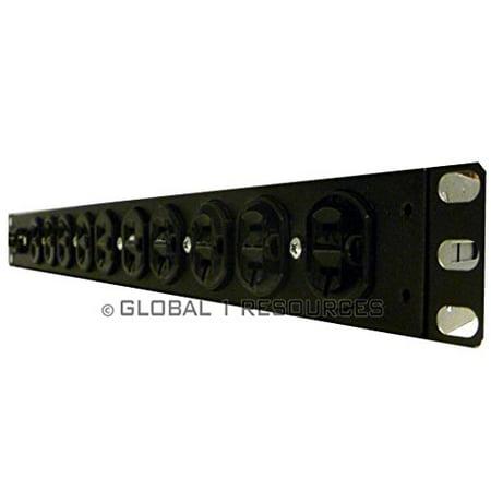 APC AP9564 S 414 120 RACK PDU,BASIC,1U,20A, 120V,(10)5-20 APC AP9564 PDU Rack Mount 20amp Server Rack Basic Powerstrip 120v (Apc Wall Mount Rack)