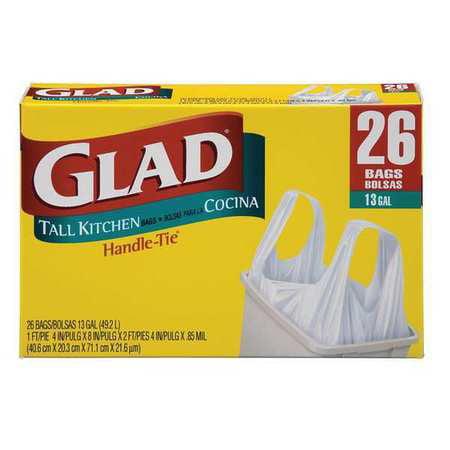 GLAD 70036 Trash Can Liner, 13 Gal., PK26