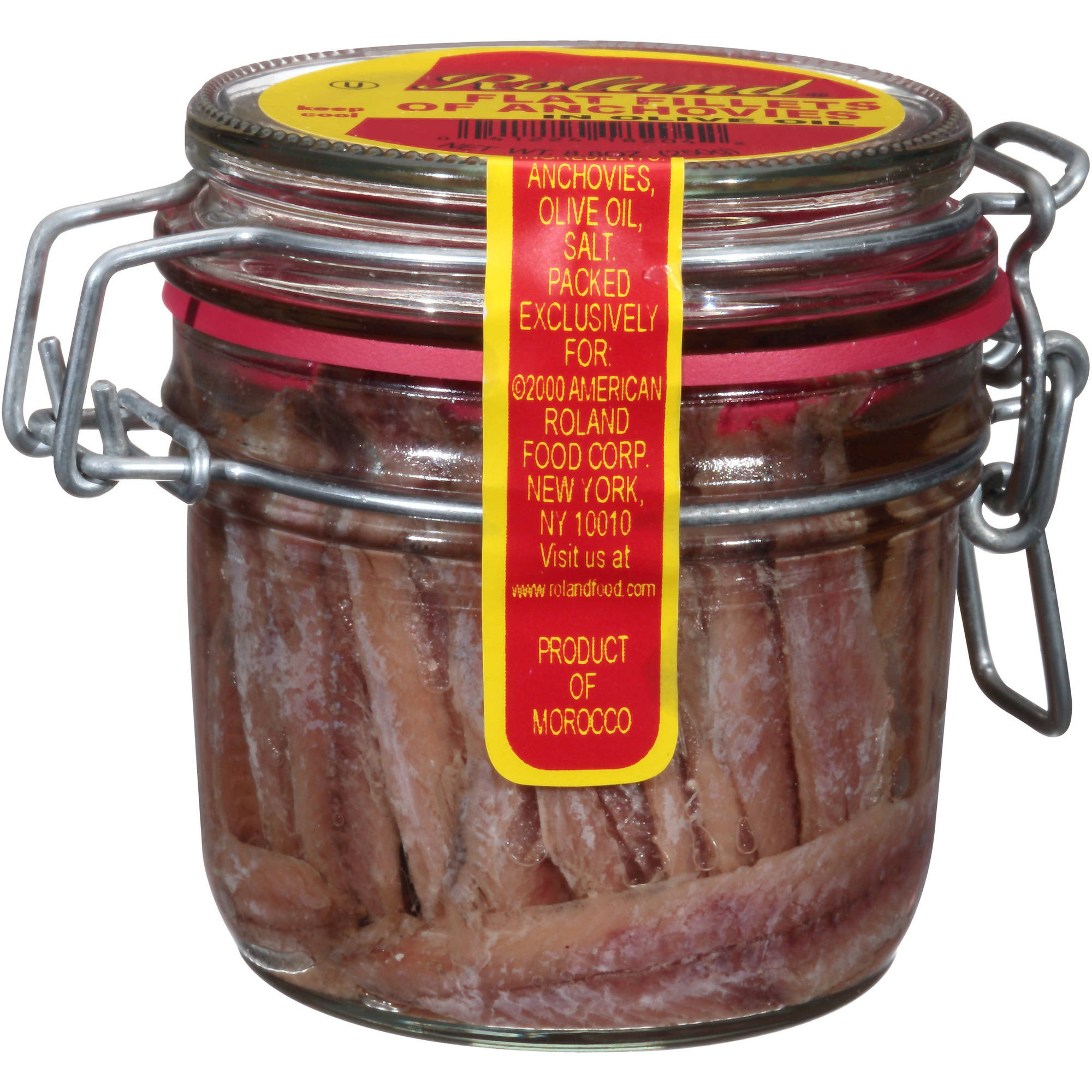 Roland Flat Fillets of Anchovies in Olive Oil, 8.8 oz