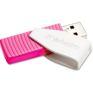 Verbatim 16GB Store 'n' Go Swivel USB Flash Drive, Hot Pink