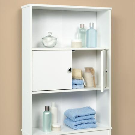 mainstays bathroom space saver white best bathroom shelves. Black Bedroom Furniture Sets. Home Design Ideas