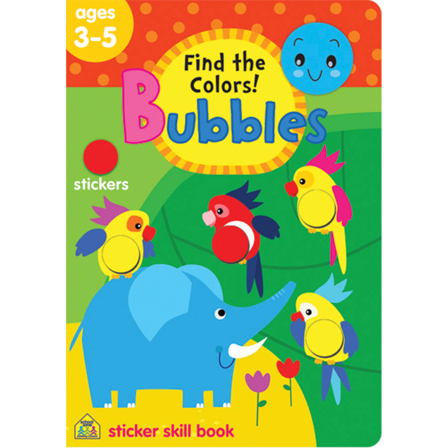 Bubbles Sticker Skill Book, Find And Color
