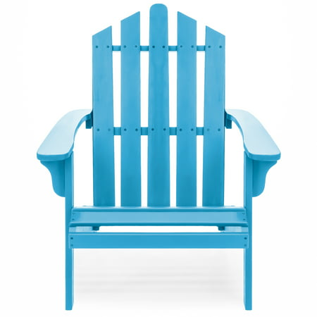 Best Choice Products Outdoor Patio Acacia Wooden Adirondack Chair (Blue) ()