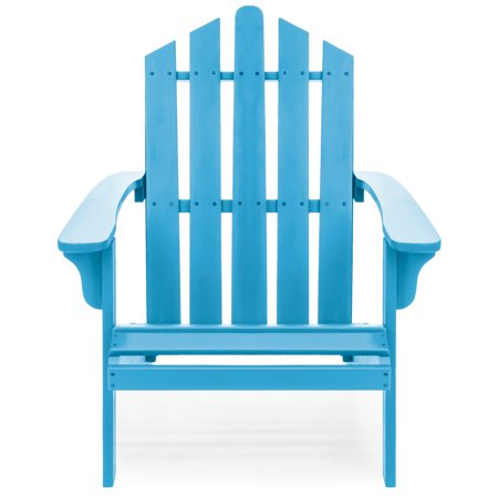 Best Choice Products Outdoor Patio Acacia Wooden Adirondack Chair