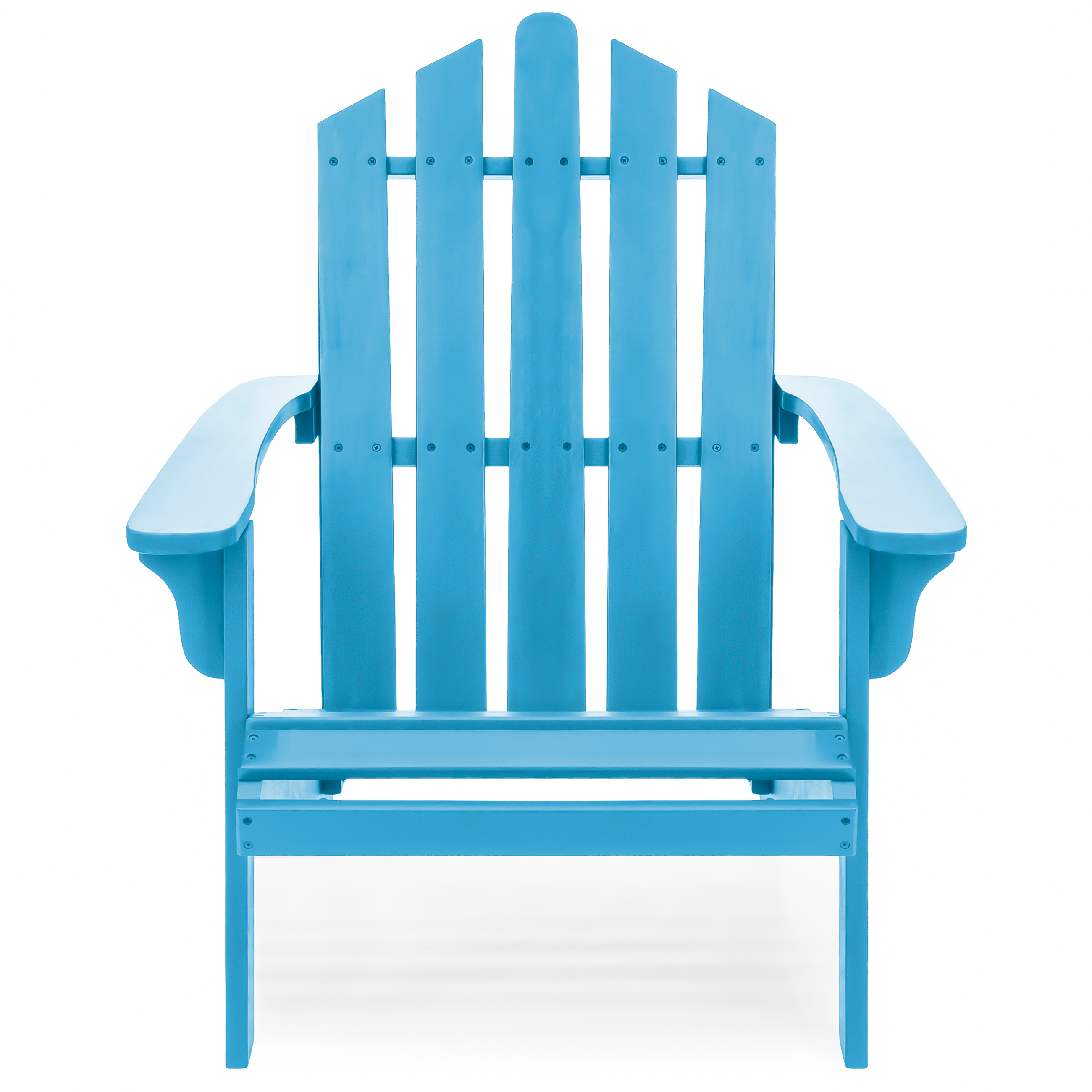 Best Choice Products Outdoor Patio Acacia Wooden Adirondack Chair (Blue)
